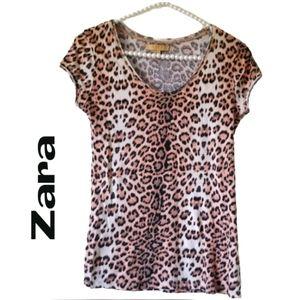 Zara Animal Print  Top Size Small
